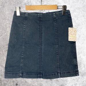 FREE PEOPLE Denim Skirt Size 6